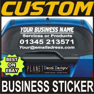 1X CUSTOM CAR STICKER BUSINESS DECAL Personal Company Name Lettering