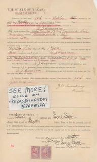 1890 JW ARMSTRONG AJ HARRISON EARL SCOTT LOTT TEXAS