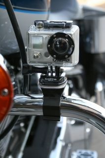 Motorcycle Camera Mount for GoPro Video Cameras  Handle Bar or Crash