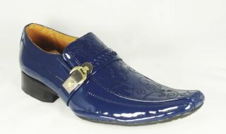 Italian Style Burlingame Mens Navy Blue Dress Shoes