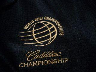 Cadillac Greg Norman blue polyester polo golf shirt mens Medium NWT