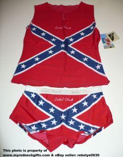 Rebel Flag Cami Bikini Set NWT