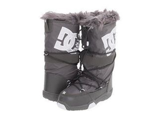 DC CHALET 2.0 LE J BATTLESHIP GRAY & WHITE FAUX FUR BOOTS WOMENS US