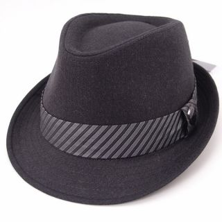 New Mens fedora style hat cap city hunter black summer winter Suit