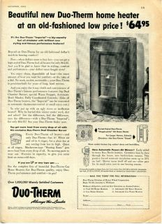 1951 Duo Therm Fuel Oil Heater Ad