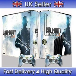 Xbox 360 Slim BLACK OPS 2 #2 CALL OF DUTY skin, sticker and 2
