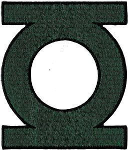 DC Comics Green Lantern Logo Embroidered Iron On Movie Patch Applique
