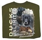 Ducks Unlimited T Shirt Dog Collage Black Labs NWT