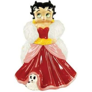 Betty Boop in Red Gown Ceramic Cookie Jar New 20162 Westland