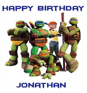 Mutant Ninja Turtles Edible Image Cake Topper w/FREE Personalization