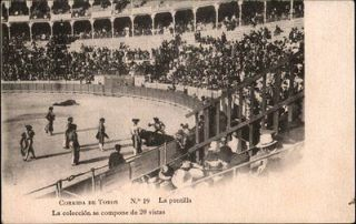Corrida De Toros Madrid Spain Bull Fighting Ring c1910 Postcard
