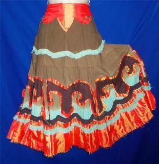 Candies Artsy Bohemian Peasant Gypsy Hippie Boho Broomstick Boot