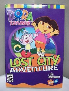 NEW DORA THE EXPLORER LOST CITY ADVENTURE CD ROM GAME NICK JR SOFTWARE