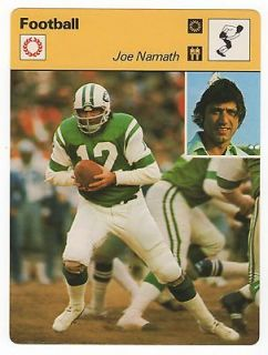 1977 JOE NAMATH Sportscaster Card Italy NM/M offers? combine shipping!