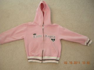 NM Gir Pink Fleece Zip Hoodie Sz 5 Mint Condition!