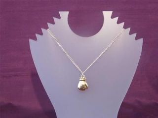 Gold Boxing Glove Pendant and Chain Necklace Rocky Marciano Perfect