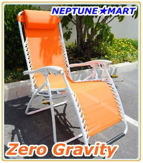 Zero Gravity Folding lounge Chair leisure recliner Orang e Christmas