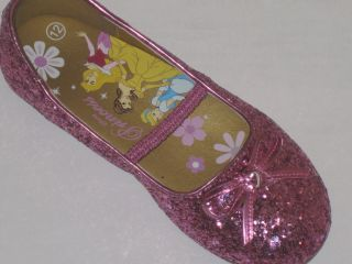Disney Toddler Girls Pink Glitter Princess Ballet Shoes