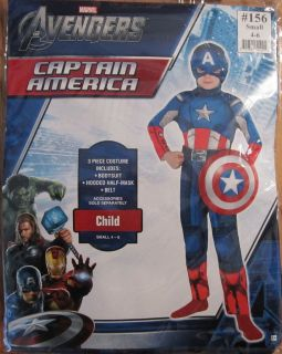 Avengers Captain America Child Costume SIZE SMALL 4 6 NWT