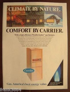 1987 Carrier High Efficienc y Gas Furnace Color AD