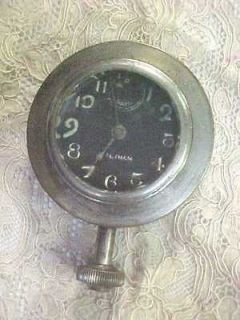 Waltham 8 Day Car Clock Duel Mainsprings 1920s