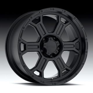 Tec Raptor Matte Black Wheels Rims 8x6.5 8 lug Chevy GM Dodge Truck