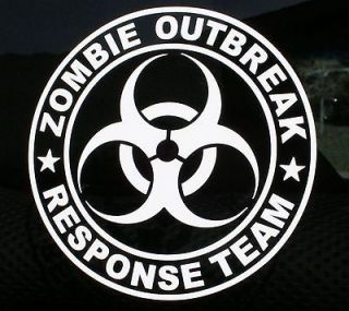 Zombie Outbreak Response Team Biohazard Vinyl Decal hunter wall