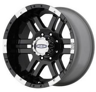Metal 20 inch 951 MO951 Black OFFROAD FORD GMC Truck Wheels RIMS Set