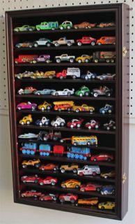Hot Wheels Matchbox Car Display Case Cabinet Wall Rack, Kid Safe Door