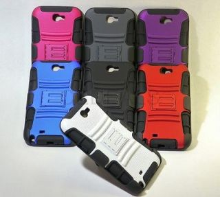 GALAXY NOTE 2 II IMPACT HARD CASE STAND SOFT SKIN BELT CLIP HOLSTER