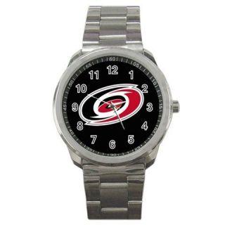 New Carolina Hurricanes Ice Hockey Team Logo Sport Metal Watch