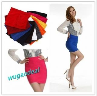Candy Colors Girl Women Lady Mini Skirt Slim Fit Seamless Stretch