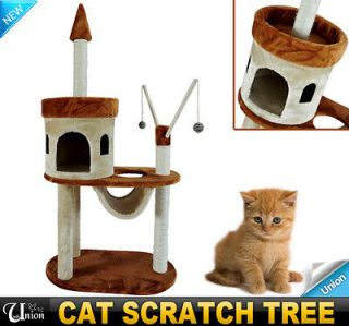"55"" Pet Furniture Cat Tree Condo House Scratch Post Condo Tower Toy"