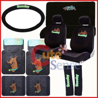 Scooby Doo Car Seat Covers Auto Accessories Set w/Rubber Mat 13pc