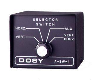 Dosy SW4 CB 10 METER HAM RADIO base Antenna switch box great for beam