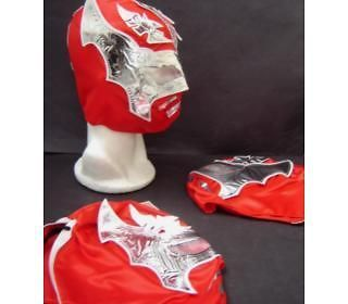 LOT of 3 SIN CARA RED WRESTLING MASKS YOUNG SIZE youth NEW STAR roja