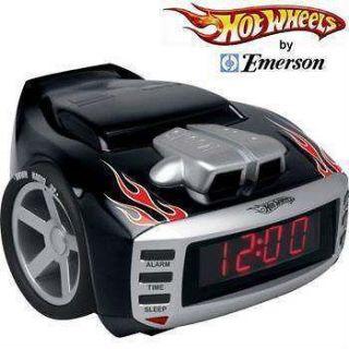 EMERSON HOT WHEELS SNORE ALARM CLOCK RADIO CAR
