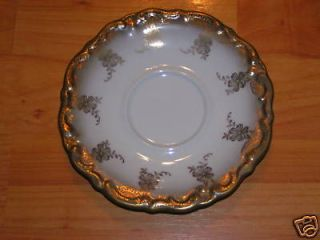 MARGARETE FINE CHINA SAUCER BAVARIA GERMANY GOLD