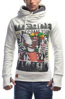 Sweater Hooded Hoodie Reggae Jamaica Marijuana Rasta Weed Bob Marley