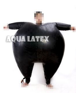 Inflatable Rubber Latex Catsuit, Suit, Uniform