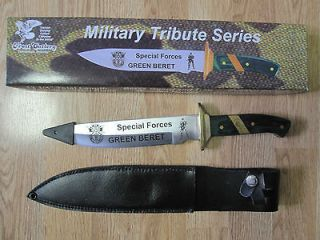 MILITARY TRIBUTE SERIES SPECIAL FORCES GREEN BERET 13 1/4 KNIFE W