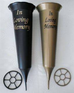 GRAVE CONE/VASE   IN LOVING MEMORY   CEMETERY VASE/FUNERAL/MEMORIAL