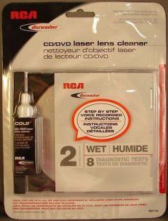 RCA RD1142 Discwasher CD/DVD Laser Lens Cleaner w/ 2 Brushes 8 Setup