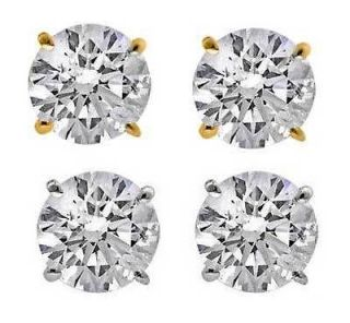 ct Round Diamond 14K Solid Gold Stud Earrings