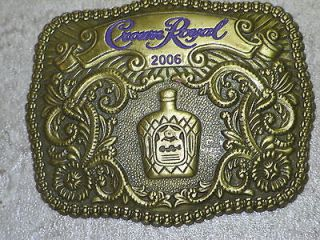 Vintage Collector Crown Royal Whisky Whiskey Gold Filigree Western