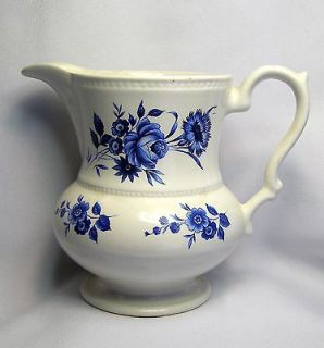 VINTAGE LORD NELSON ENGLISH POTTERY BLUE ROSE MILK JUG PITCHER 5 1/4