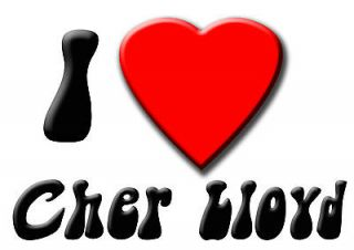Cher Lloyd I love iron on T shirt/Pillow case transfer