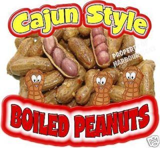 Cajun Style Boiled Peanuts Concession Cart Van Food Truck Vinyl Sign