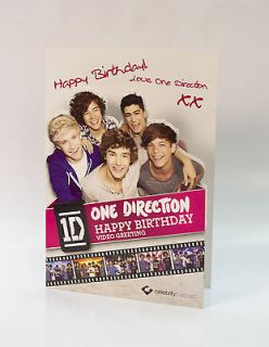 One Direction Happy Birthday Video Greeting Card   Celebrity Fastcard