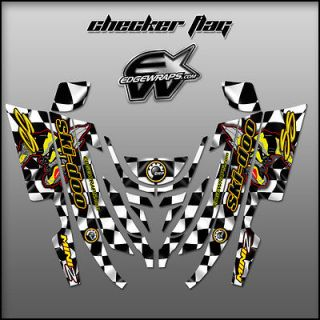 Newly listed SKI DOO Mini Z, 98 02 custom graphics kit   checker flag
